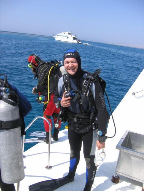 Un heureux plongeur